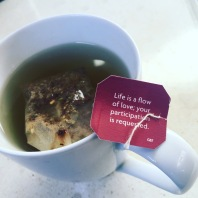 Waking up with yogi tea blessings