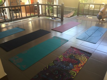 Our practice space for yoga and training today